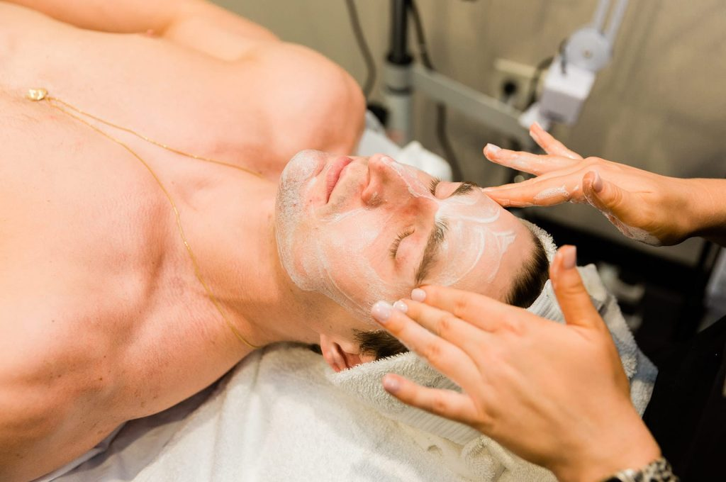 Man getting a Facial massage